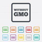 pic of modifier  - No GMO sign icon - JPG