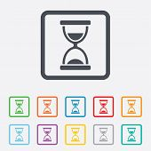 picture of sand timer  - Hourglass sign icon - JPG