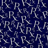pic of prescription  - Blue and Gray Prescription symbol Pattern Repeat Background that is seamless and repeats - JPG