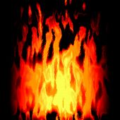 picture of plasmatic  - Burning red fire generated texture or background - JPG