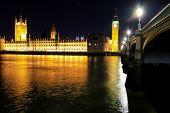 foto of westminster bridge  - Houses of Parliament Big Ben Tower and Westminster Bridge  - JPG