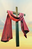 pic of risen  - cross against the sky closeup - JPG