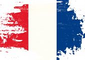 pic of french culture  - Scratched french Flag - JPG