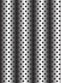 pic of metal grate  - Concept conceptual gray abstract metal stainless steel aluminum perforated pattern texture mesh background as metaphor to industrial - JPG