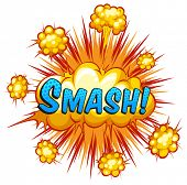 picture of slang  - Word smash with cloud explosion background - JPG