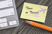 stock photo of time flies  - concept of time to travel or vacation - JPG