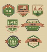 stock photo of boy scout  - Hiking and camp badges  - JPG