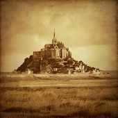 picture of michel  - Grunge style photo of Mont Saint Michel - JPG