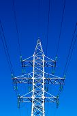 picture of mast  - A single electric pylon mast works silently in the morning light - JPG
