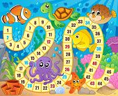 stock photo of game-fish  - Board game image with underwater theme 1  - JPG