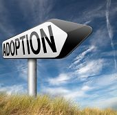 stock photo of guardian  - adoption adopting child becoming a legal guardian and getting guardianship and adopt young baby   - JPG