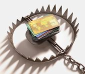 image of trap  - The trap of credit card with their high interest rates - JPG