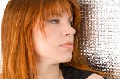 picture of silver-hair  - Portrait of beautiful ginger - JPG