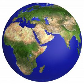 image of globe  - Earth planet globe map - JPG