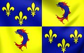 stock photo of dauphin  - 3D Flag of the Dauphine France - JPG