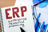 image of enterprise  - Notepad with Enterprise Resource Planning    - JPG