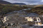 picture of dam  - Highland River and Hydro Dam Aultguish Scotland - JPG
