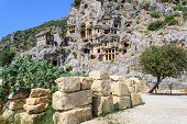 Постер, плакат: Ancient rock tombs in Turkey