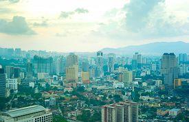 foto of petronas towers  - Panorama of Kuala Lumpur - JPG