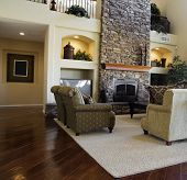 picture of model home  - Beautiful large executive home living room area - JPG