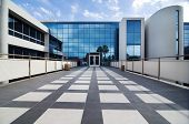 stock photo of building exterior  - Modern commercial building facility - JPG
