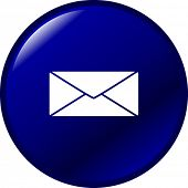 stock photo of telegram  - mail button - JPG