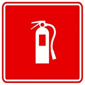 stock photo of fire extinguishers  - fire extinguisher sign - JPG
