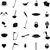 foto of cake-mixer  - diverse vector symbols set 9 - JPG