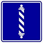 Постер, плакат: Парикмахерская полюс знак