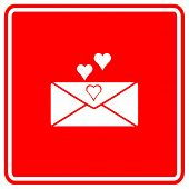 stock photo of long distance relationship  - love letter sign - JPG