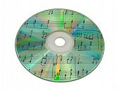 picture of rainbow piano  - Sheet music on compact disk  - JPG