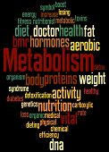 Metabolism, Word Cloud Concept 7 poster