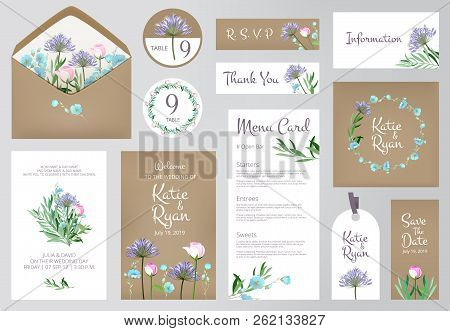 Floral Invitation Cards Beautiful Wedding