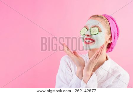 Happy Woman With Mask On