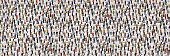 Large Group Of People. Crowd Seamless Background. Vector Illustration poster