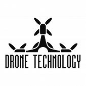 Drone Tech Logo. Simple Illustration Of Drone Tech Vector Logo For Web Design Isolated On White Back poster