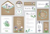 Floral Invitation Cards. Beautiful Wedding Love Greeting Beauty Invited Vector Backgrounds. Floral D poster