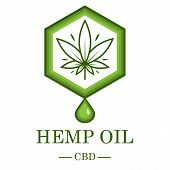 Marijuana Leaf. Medical Cannabis. Hemp Oil. Cannabis Extract. Icon Product Label And Logo Graphic Te poster