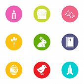 Public Library Icons Set. Flat Set Of 9 Public Library Vector Icons For Web Isolated On White Backgr poster