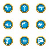 Rough Repair Icons Set. Flat Set Of 9 Rough Repair Vector Icons For Web Isolated On White Background poster