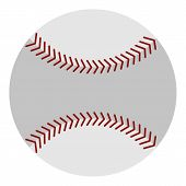 Softball Ball Icon Flat Isolated On White Background Illustration poster