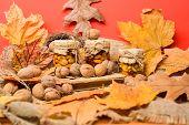 Storehouse Of Vitamins Concept. Natural Homemade Treats Autumn Season Keep Healthy. Set Three Honey  poster