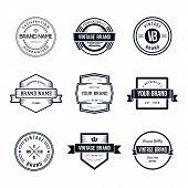 Vintage Badges Logo Template Vector Set. Vintage Logo Design poster
