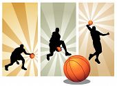 Vector Basketball Players poster