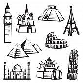 set of landmarks poster