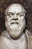 stock photo of socrates  - Bust of Socrates - JPG