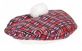pic of french beret  - Colorful red and black plaid Beret that wears tight to the head  - JPG