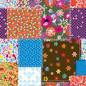 Patchwork seamless pattern for sewing