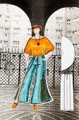 image of slit  - model of woman clothing  - JPG