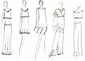 pic of knitwear  - sketch of fashion model  - JPG